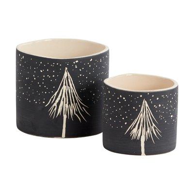 Dark Night Ceramic Pot