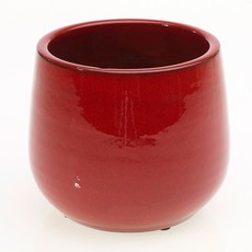 Slate Red Holiday Pot