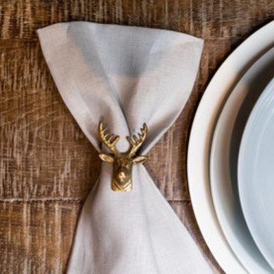 Deer Napkin Ring (Set of 6)