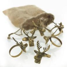 Slate Deer Napkin Ring (Set of 6)