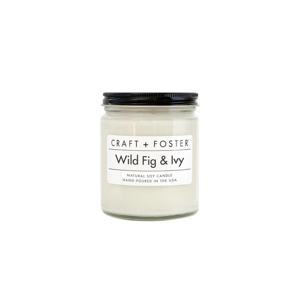 Craft + Foster 8 oz. White Label Candle