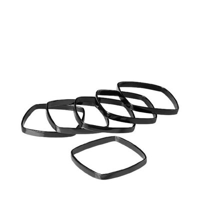 Blomus Black Napkin Rings  (Set of 6)