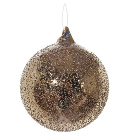 Slate Gold Sanded Glass Orb Ornament