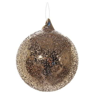 Slate Gold Sanded Glass Orb Ornament