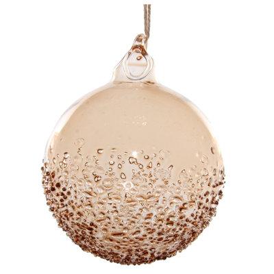 Slate Light Brown Glass Ornament