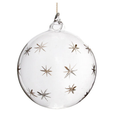 Slate Etched Glass Ornament