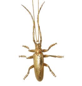 Slate Long Horned Gold Bug Ornament