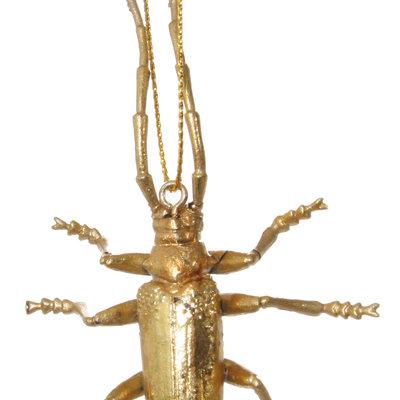 Long Horned Gold Bug Ornament