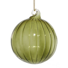 Slate Retro Green Glass Ornament