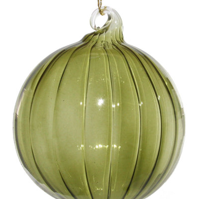 Slate Retro Green Glass Ornament