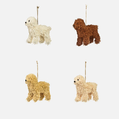 Slate Assorted Poodle Ornament