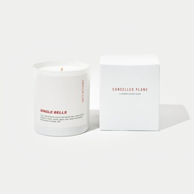 Slate Holiday Candle - Single Bells