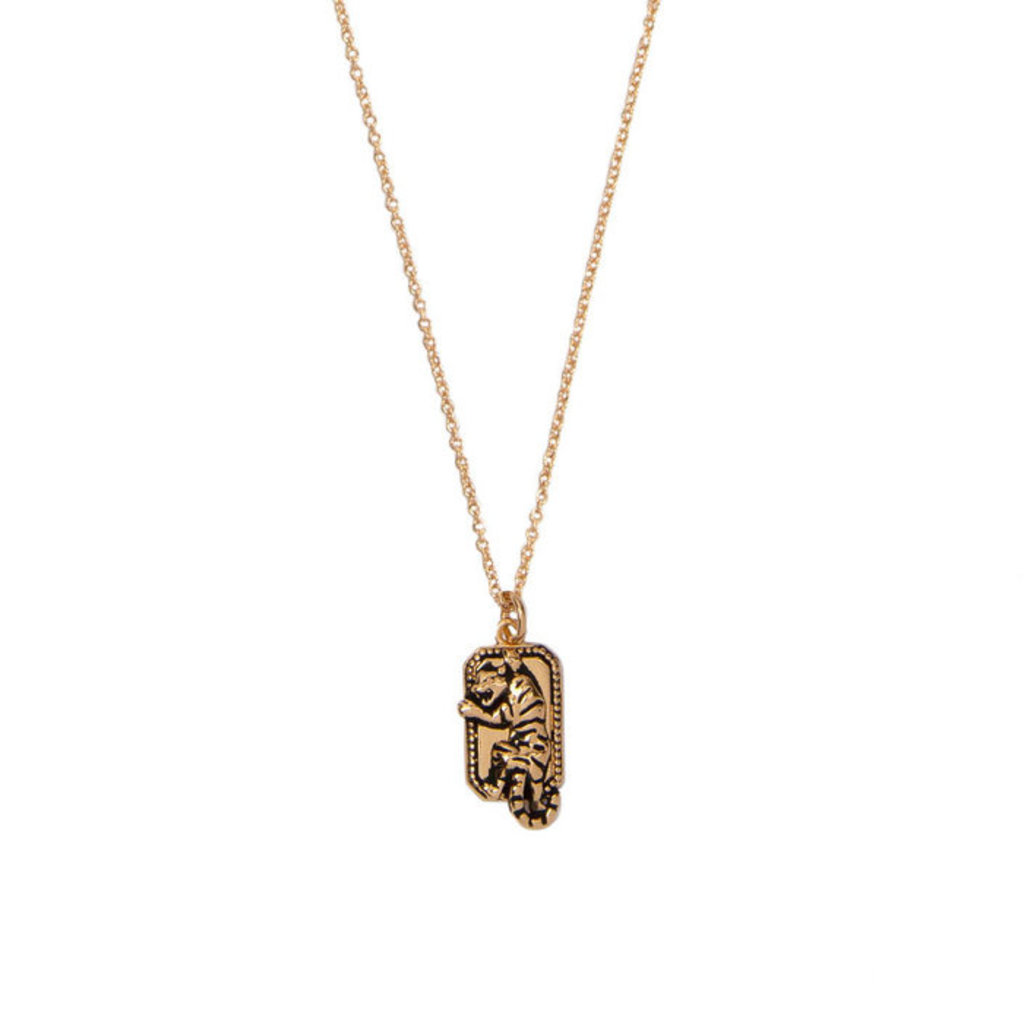 Charm Necklace (18k GP)