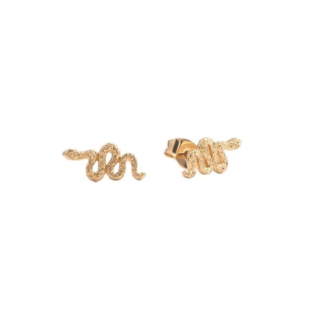 Slate Parade Earrings (18k GP)