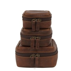 Moore and Giles Leather Travel Pouch
