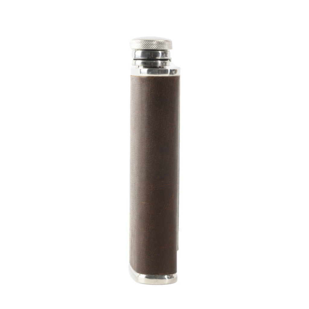 Moore and Giles Leather Wrapped Flask