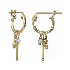 Slate Misty Hoop Earrings