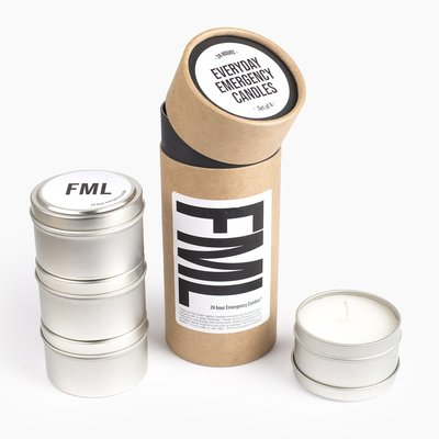 Slate Emergency Candles - FML (4 pack)