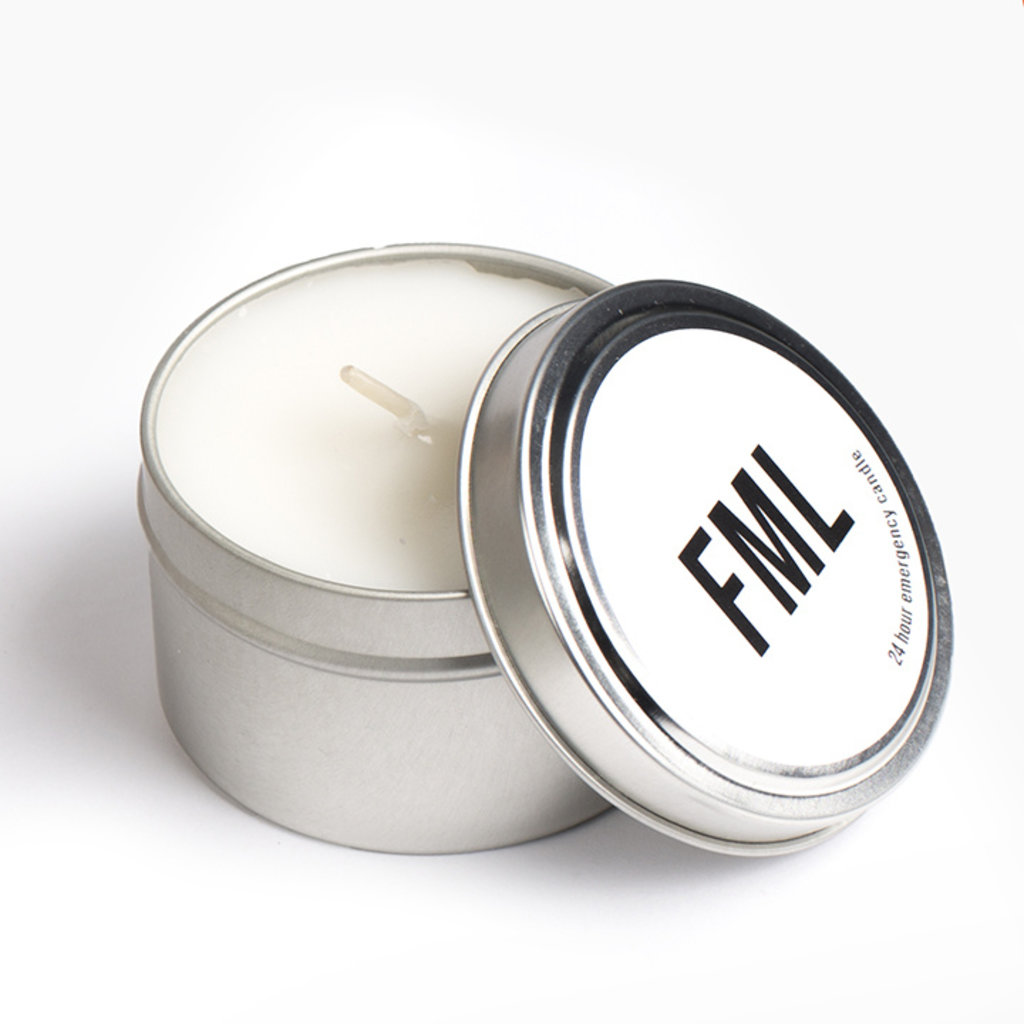 Slate Emergency Candles - FML (4 pack)
