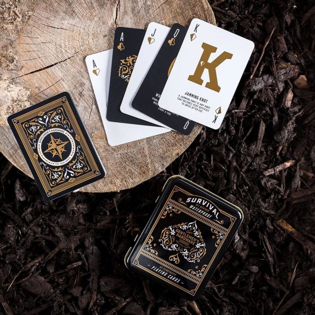 Slate Campfire Survival Waterproof Playing Cards