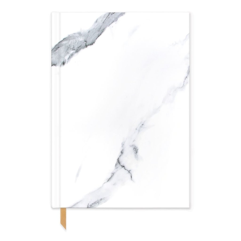 Slate White Marble Hardcover Journal