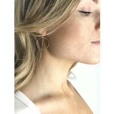 Slate Halo Earrings