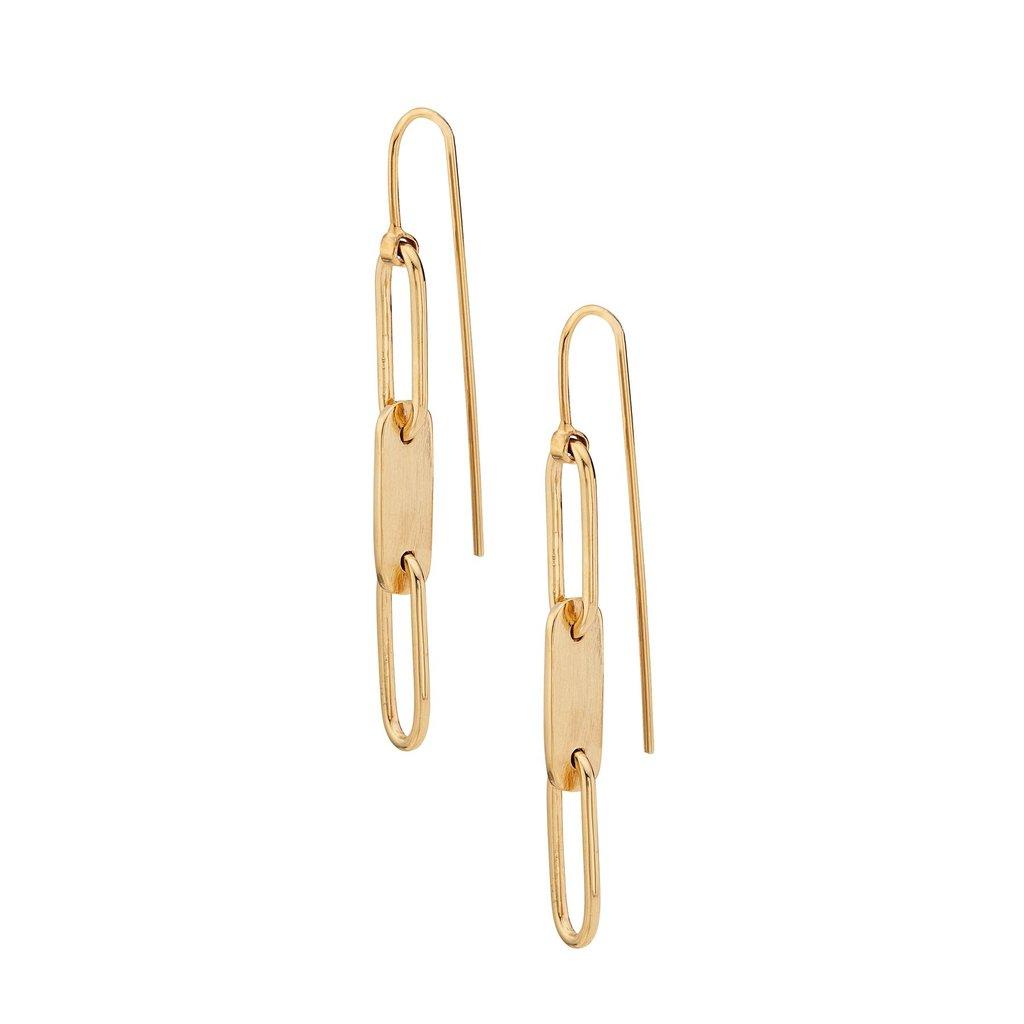 Ellipse Threader Earrings