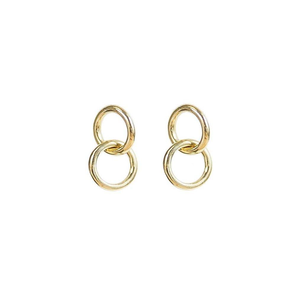 Slate Kumi Mini Hoop Stud Earrings
