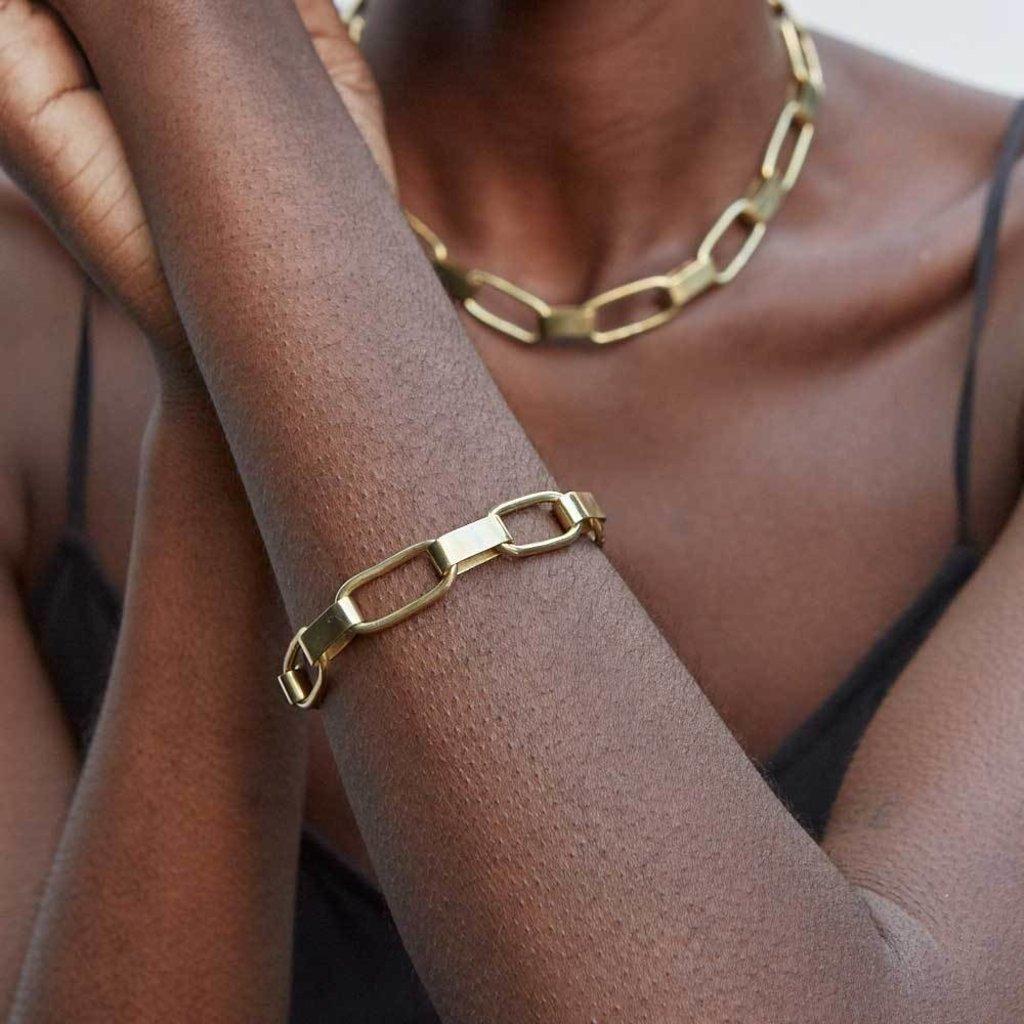 Slate Capsule Link Bracelet