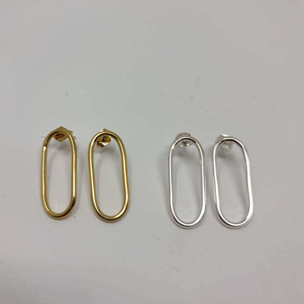 Slate Circuit Stud Earrings