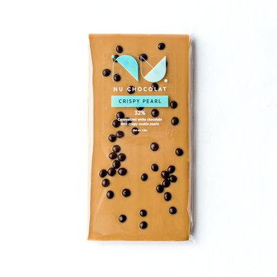 Nu Chocolat Crispy Pearl Blonde Chocolate Bar