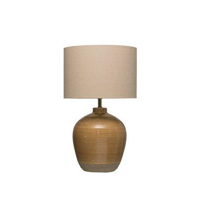 Slate Reactive Glaze Table Lamp