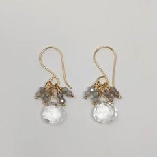 Labradorite + Clear Quartz Earrings