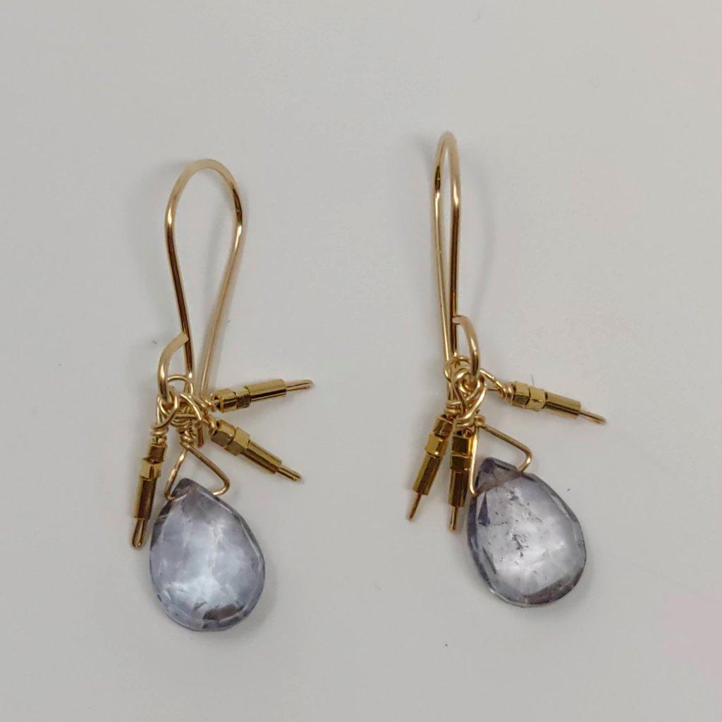 Mystic Quartz Droplet Earrings