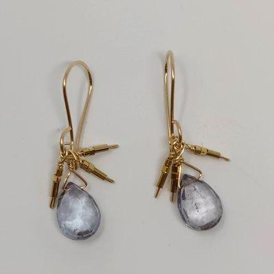 Slate Mystic Quartz Droplet Earrings