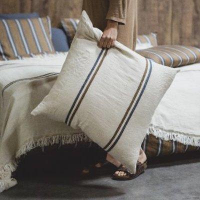 "Libeco Auburn Stripe 25"" Pillow"