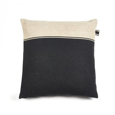 "Libeco Marshall Black-Flax 25"" Pillow"