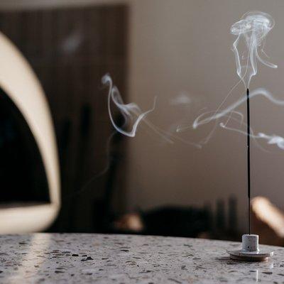Slate White Ceramic Incense Burner