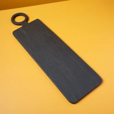 Slate Black Mango Wood Rectangular Long Board