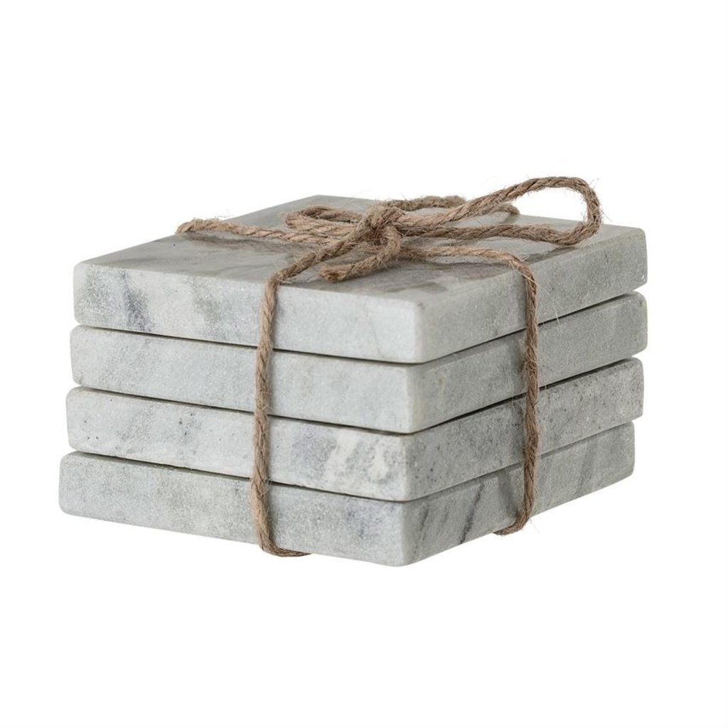 Slate Square Marble Coasters (Set of 4)