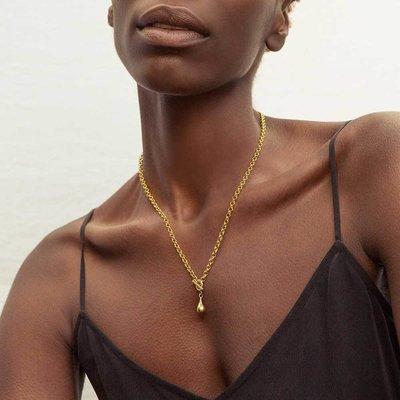 Slate Delicate Dash Necklace