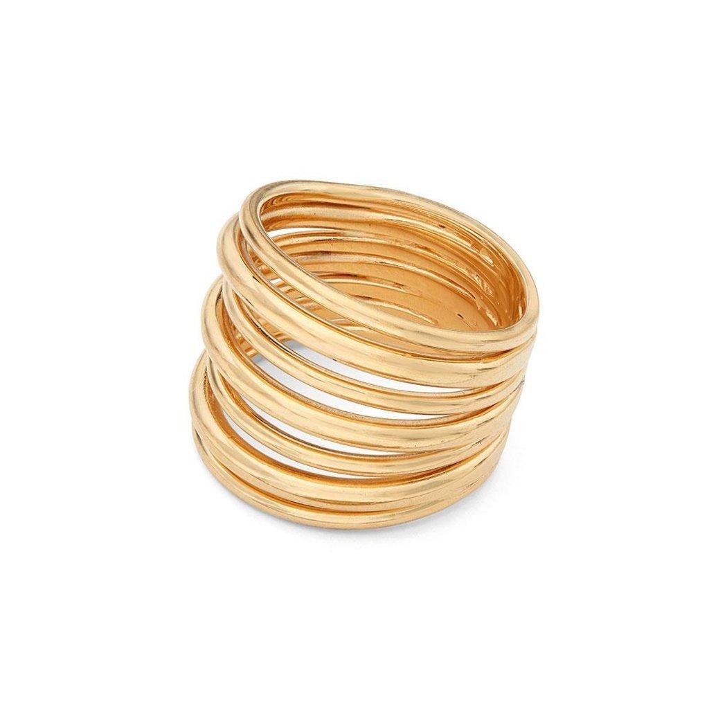 Slate Layered Strand Ring