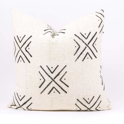 "Slate Handwoven Bayo 20"" Pillow"