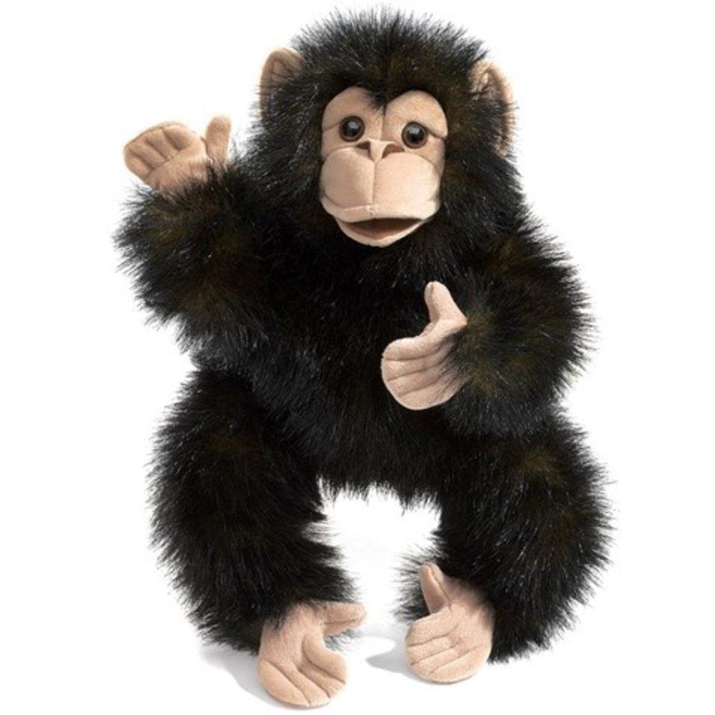 Slate Baby Chimpanzee Puppet