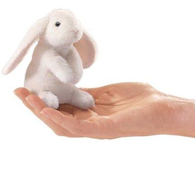 Slate Mini Lop Ear Rabbit Finger Puppet