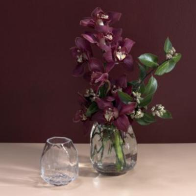 Slate Angled Glass Vase