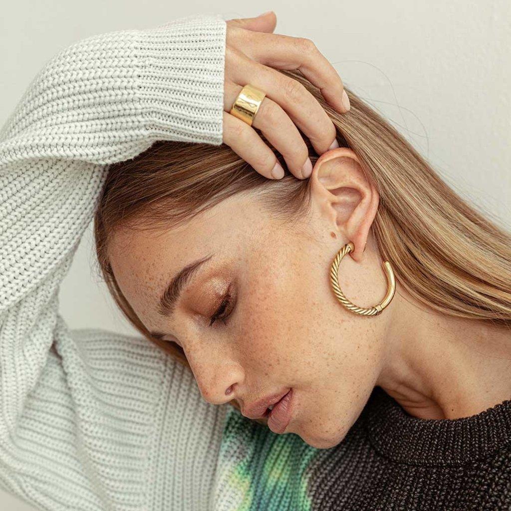 Slate Uzi Hoop Earrings