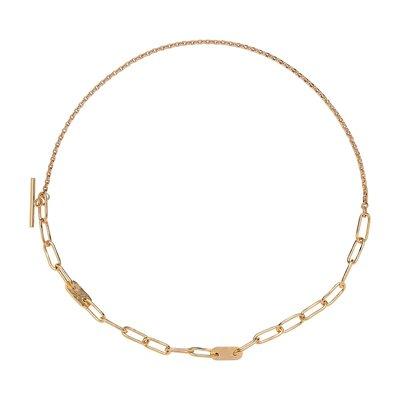 Slate Delicate Ellipse Necklace