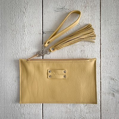 Ma & Pembum Leather Wristlet