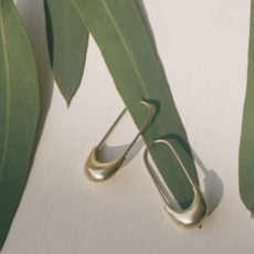 Slate Safety Pin Earrings